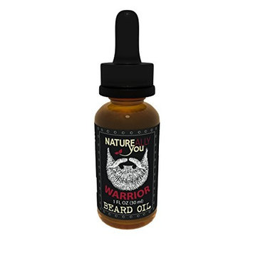 NATUREALLY YOU© - Beard Oil - Warrior Scent - (1 oz) - Moisturize Skin, Stimulate Growth, Make Hair Softer, Smooth, No Left Over Residue, Eliminate Itchy Skin, Treat...