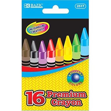BAZIC 16 Color Premium Quality Crayon