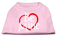 Mirage Pet Products 5153 LGLPK Be Mine Screen Print Shirt Light Pink Lg 14
