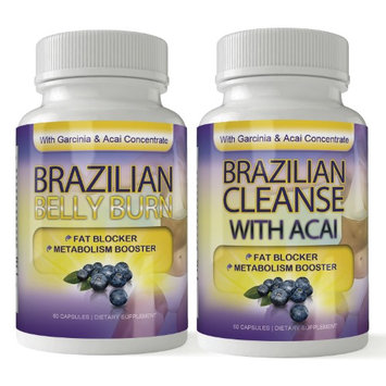 Totally Products Brazilian Belly Burn and Brazilian Cleanse Combo Pack (Pack of 2)