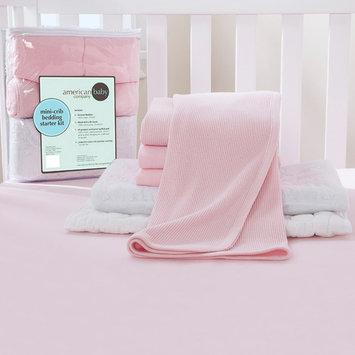 TL Care 6-Piece Mini-Crib Starter Kit in Pink
