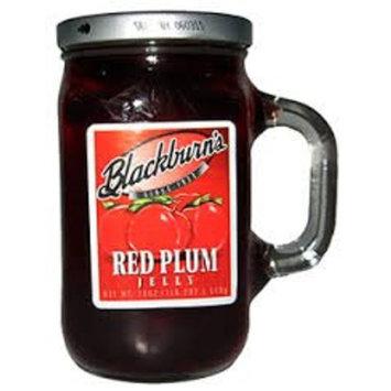 Blackburn's Preserves & Jellys 18oz Reusable Handled Glass Mug Jar (Pack of 3) (Red Plum Jelly)