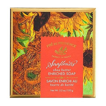 Pre de Provence Artist's Collection Van Gogh Sunflowers Soap, 150 Gram