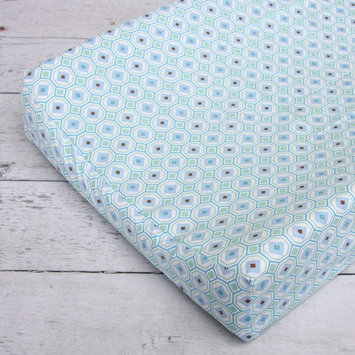 Caden Lane Modern Vintage Octagon Changing Pad Cover in Blue