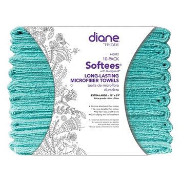 Softees Towels with Duraguard, Aqua, 10pk by Fromm International
