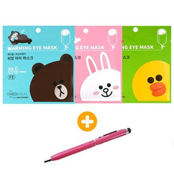 [MEDIHEAL] Line Friends Warming Eye Mask 9+1pcs + [VM Korea Touch Pen] : Beauty