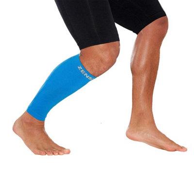 Zensah - Leg Sleeves Calf Guards-Singles Blue-XS/S