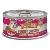 Merrick Purrfect Bistro Grain Free Cowboy Cookout Canned Cat Food, 5.5 oz, Case of 24