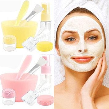 7 in 1 DIY Face Mask Mixing Tool Large Bowl, Facial Mask Bowl Brush Stick Measuring Spoon Brush Set, Puff Stick Gauges Brush Soaking & Spray bottle Lady Facial Skin Care Women Face Care Mask