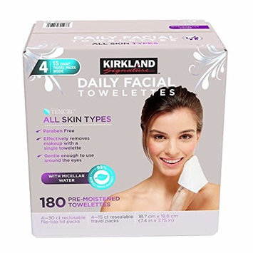 Kirkland-Signature Daily Facial Towellettes, 4.53 Pound, 180 Count - 1-Pack ii