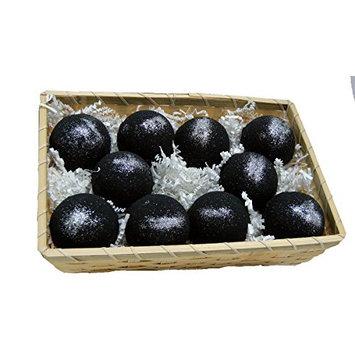 Basket of Bombs! 10 pcs. Black Bath Bombs 5.7 oz Aloe Vera Kaolin Clay scented w/ Little Black Dress