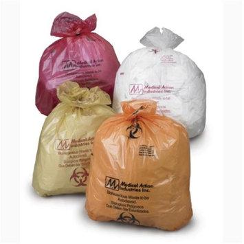Medegen Medical MAI 864 38 x 47 in. Autoclavable Biohazard Bag Black - 100 per Case