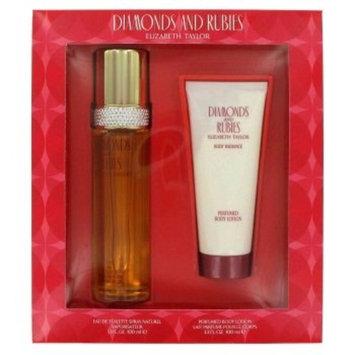 Diamonds & Rubies By ELIZABETH TAYLOR FOR WOMEN Gift Set - 3.3 oz Eau De Toilette Spray + 3.3 oz Body Lotion