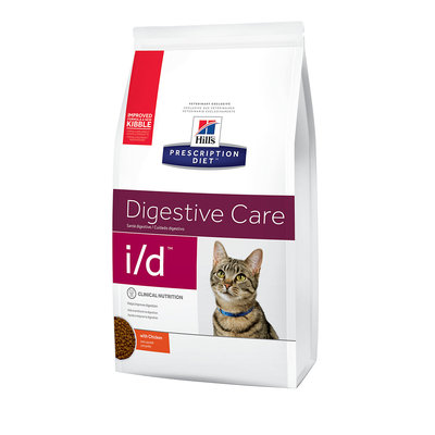 Hill's Prescription Diet i/d Digestive Care Chicken Flavor Dry Cat Food, 4 lbs.