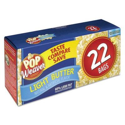 Office Snax, Inc. Office Snax 105511 Microwave Popcorn Light Butter 2.5oz Bag 22/Box