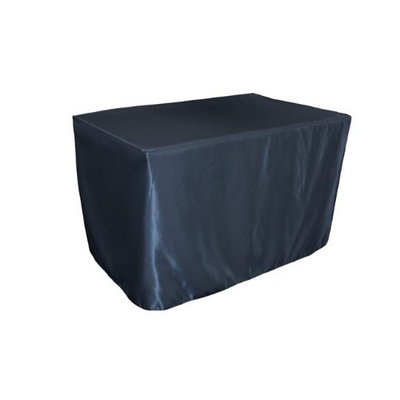 LA Linen TCbridal-fit-48x24x30-NavyB72 Fitted Bridal Satin Tablecloth Navy - 48 x 24 x 30 in.