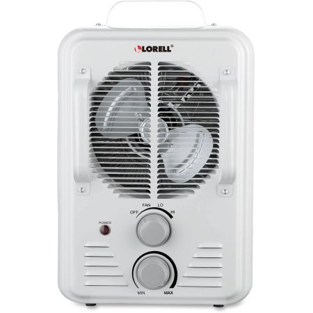 Lorell Portable Ceramic Heater Fan - Ceramic - Electric - Electric - 900 W To 1.50 Kw - 2 X Heat