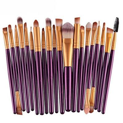 Becoler 20 pcs Makeup Brush Set Beauty Tools for Face Lip Eyes