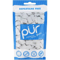 Pur Peppermint Menthe Gum, 57 count, 2.82 oz, (Pack of 4)