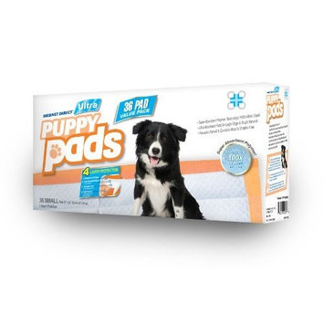 Mednet Direct Ultra Disposable Puppy Pads   Pet Training Pads, for Dogs of Leak-proof, Easy Clean-Up   4 Layers of Protection for Maximum Absorbency, Small (17