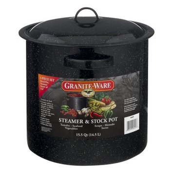 Granite Ware 15.5Quart Tamale Pot with Lid and Steamer
