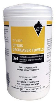 Tough Guy Solvent and Degreaser Wipes, 10-1/2 x 12-1/4