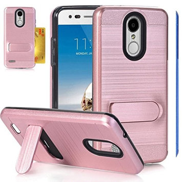 LG LV3 2018 Case, LG Aristo 2 Case, LG Tribute Dynasty Case,AutumnFall 1PC Shockproof Full-body Protective Case Cover Skins Card Holder For Tribute Dynasty LV3 (Rose G