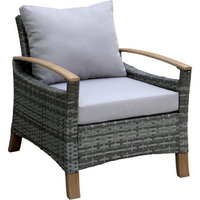Furniture of America Barnard Contemporary Patio Chair, Gray