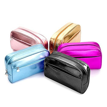 Make Up Bag,Bueno cosmetic bag for Women Skincare Cosmetic Pouch –for Women Skincare Facial Cleanser and Beauty Stuff (black)
