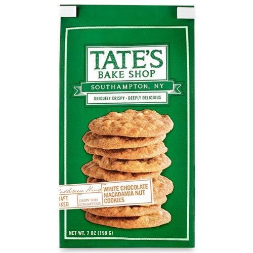 Tate's Bake Shop White Chocolate Macadamia Nut Cookies 7 oz Bags