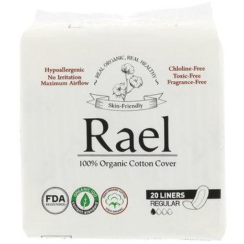 Rael, Organic Panty Liners, Regular, 20 Liners