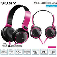 Sony Extra Bass (XB) Headphones (Pink) - Stereo - Pink - Mini-phone - Wired - 24 Ohm - 5 Hz 22 kHz - Gold Plated - Over-the-head - Binaural - Supra-aural - 3.94 ft Cable