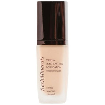 freshMinerals Mineral Long Lasting Foundation, Natural, 1 Fluid Ounce
