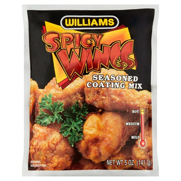 Williams Spicy Wings Seasoned Coating Mix, 5 oz, 6 pack