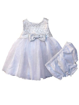 Marmellata Infant Girls Silver Sparkly Tulle Holiday Christmas Party Dress 6-9m