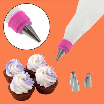 Home Cake Decorating Kit Set Bag Master Cupcake Making Baking Tool Stainless Steel DIY Icing Piping Nozzles Tips