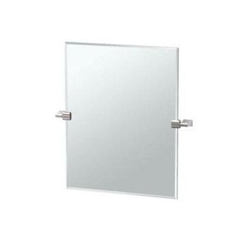 Gatco Bleu 24 in. x 24 in. Frameless Single Small Rectangle Mirror in Satin Nickel