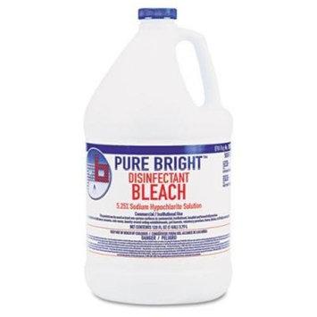 Pure Bright Liquid Bleach 1 Gallon, Pack of 4