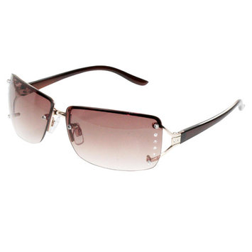 Jaclyn Smith Square Rimless Sunglasses