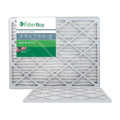 AFB Platinum MERV 13 23.5x23.5x1 Pleated AC Furnace Air Filter. Filters. 100% produced in the USA. (Pack of 2)