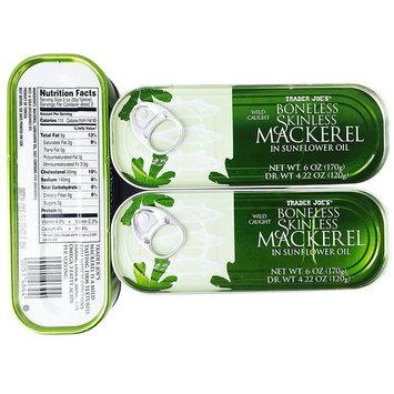 Trader Joe's Wild Caught Boneless Skinless Mackerel in Sunflower Oil (3 Pack)