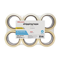 Office Depot(R) Brand Packaging Tape, Multipurpose, 1.89in. x 109.4 Yd, Clear, Pack Of 6 Rolls