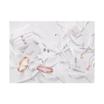 Silver-Tone Crystal Cluster Ribbon Sash