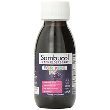 Sambucol Blackberry Elderberry Syrup For Kids 4 oz Liquid