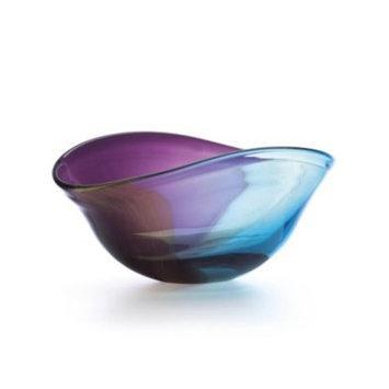 Nightfall Curved Crystal Oval Bowl