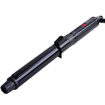 PARWIN PRO Clamp Curling Iron Rod with Clip 1 Inch – Hair Curling Iron Machine for Men and Women and for All Hair Types, Digital LCD Temperature Control Ceramic Curling Wand with Cool Tip, Black