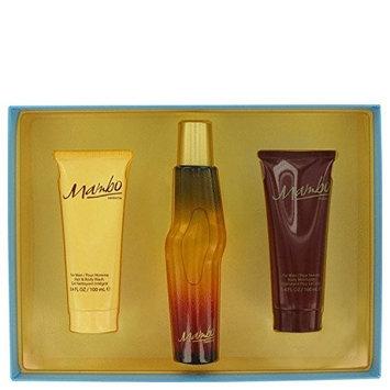 MAMBO by Liz Claiborne Gift Set -- 3.4 oz / 100 ml Cologne Spray + 3.4 oz / 100 ml Body Wash + 3.4 oz / 100 ml Body Moisturizer for Men