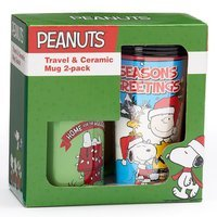 Icup Peanuts 2-piece Travel Mug Set, Multicolor