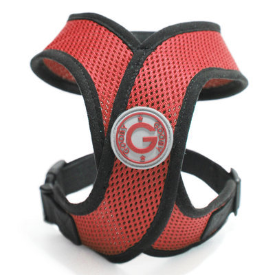 Gooby Choke Free Comfort X Soft Harness, Red, Large