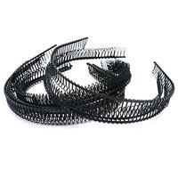 Set of 12 Fashion Iron Wire Teeth Comb Hairband Hair Hoop Headband Headwear Accessory for Lady Girls Women, Black